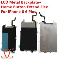 Wholesale Iphone Back Digitizer - LCD Digitizer Metal Back plate Shield Bezel + Home Button Extended Flex Cable For iPhone 6 Plus 6G 4.7 5.5 inch Display