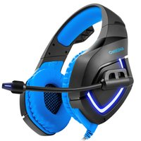 Wholesale Sounding Hose - ONIKUMA K1-B stereo game headset 3.5mm Computer and PS hose bass headphone Microphone sound control LED lights computer sound insulation