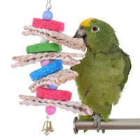 Wholesale pet birds parrots - New Towel Gourd Bird Toys Handmade Pets Parrot Toys Healthy Log Playing Chewing Pecking Toy toys for Parrots Birds Have Fun