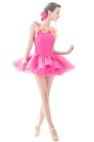 Wholesale Ballet Clothes For Girls Yellow - Multicolor blue green purple red orange yellow children's ballet costumes for girls clothes dance ballet skirt for women professional tutus