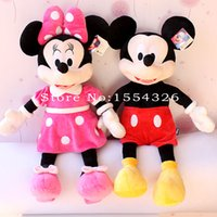 Wholesale Wholesale Minnie Mouse Toys - Wholesale- 40cm hot sale High quality new Lovely Mickey Mouse Plush Toy Minnie Doll Christmas birthday gift