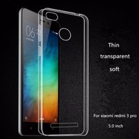 Wholesale Iphone 4c - 0.5MM Ultra Thin Clear Soft TPU Case For Xiaomi 3 4 5 Pro Mi3 M5 Redmi NOTE 4X Huawei Honor 7 8 3X 4C 5C P9 P8 Lite 2017 P10 PLUS Skin Cover