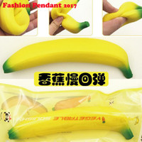 Wholesale Banana Phones - Banana Squishy Slow Rising Xmas Decoration Cute Jumbo Simulate Phone Straps Pendant Squeeze Stress Stretch Bread Kids Toy Gift