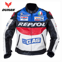 Wholesale Racing Motorbike Leather Jackets - NEW DUHAN Men's Moto Racing Jackets Motorbike GP REPSOL Motorcycle Riding PU leather Jacket Polyurethane