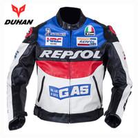 Wholesale Repsol Leather - NEW DUHAN Men's Moto Racing Jackets Motorbike GP REPSOL Motorcycle Riding PU leather Jacket Polyurethane