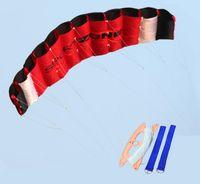 Wholesale Power Surf - High Quality kite 1.8m red Dual Line Parafoil Kite With Control Bar Power Braid Sailing Kitesurf kite surf Rainbow Sports Beach