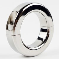 Wholesale Chastity Metal Ball - Scrotum Bondage Gear Ball Stretcher Male Penis Cock Ring Stainless Steel Metal Chastity Ring Adultsex Toy