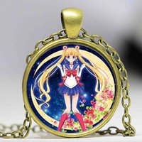JP Anime Sailor Moon Mens Kette Handgefertigte 1 New Fashion Messing Halskette Silber Glaskuppel Anhänger Steampunk Schmuck Geschenk Frauen Spielzeug