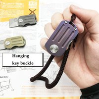 Wholesale Tools Small Box - Factory outlet Small Pocket Folding Knife Surviving Knife color Assisted Opening key buckle EDC tool with original box