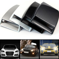 Wholesale carbon fiber hood vents for sale - Group buy Newest Universal Colors Decorative Air Flow Intake Scoop Turbo Bonnet Vent Cover Hood Car styling Hot Selling