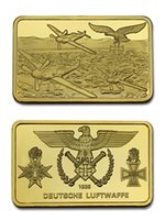 monedas militares al por mayor-Alemania Segunda Guerra Mundial Cruz Eagle Fighter Militar Conmemorativo Coin Bar