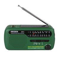 Wholesale Solar Mw - Emergency Hand Crank Dynamo Solar FM MW SW Radio Portable mini Radio Outdoor FM radio Flashlight Mobile Phone Charger
