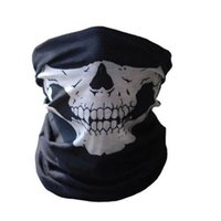 Wholesale Men Ring Skull Red - Wholesale- Tubular Skull Ghosts Ghost Mask Bandana Motor bike Sport Scarf Warmer Winter Cold Halloween For Motorcycle