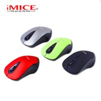 Wholesale Notebook Original - Original iMice E-2370 Best Mini 2.4GHz Wireless Mouse Portable 3 Buttons LED Optical Mouse For Computer Notebook Laptop Mice 4 Colours