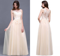 Wholesale Tulle Chiffon Bridesmaid Dresses - 2018 New Designer Long Navy Blue Burgundy Bridesmaid Dresses Elegant Lace Applique Tulle A Line Country Maid of Honor Gowns Evening CPS494