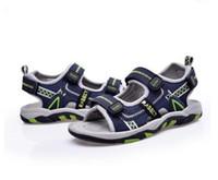 Wholesale Boys Sandals 11 12 - Summer Children Beach Sandals 2017 Kids Boys Rubber Sole Slip-resistant Fashion Sandals Children breathable sandal Size 26-36 G142