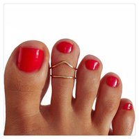 Wholesale Beach Toe Rings Women Fashion Jewelry Retro Trendy Style Toe Ring Beach Foot Rings Adjustable Opening Rings Body Jewelry