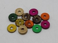 Wholesale Heishi Beads Wholesale - 200 pcs Mixed Color Natural Coconut Column Heishi Beads 12mm
