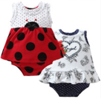 mode suivante achat en gros de-Baby Girl Bodysuits 2Pcs / lot Cartoon Fashion Style Baby Girl Vêtements Newborn à manches courtes, bébé, vêtements, Bebe Next Clothing Dress