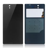 Wholesale Xperia Z Back - Black Original Battery Back Cover glass Housing Case Door+NFC Chip For Sony xperia Z L36H L36i L36 C6603 C6602 LT36