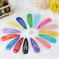 Wholesale kids hair snaps - Carton Candy Color Cute Girls Hairpin cm BB Clips Snap Band Hairpins Kids Hair Accessories