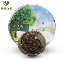 Wholesale Green Tea Good - New arrival orange puerh tea good taste ripe puer shu pu erh tea orange fragrance pu-er green food gift health care 5pcs