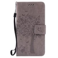 Wholesale Silicone Tree - Tree Butterfly Wallet Leather Pouch Case For Samsung Galaxy J1 ACE J120 J210 J3 Pro J2 J5 J7 A3 A5 2016 A710 A510 Flower ID Card Stand Cover