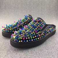Moccasins spikes fashion trend - 2017 Fashion trend comfortable lovers cool slippers summer outdoor anti slip on pik pik spikes red bottom shoes beach slide sandals slipper