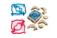 Wholesale Cutter Biscuits - Sandwich Cutter Toast Cookies Cake Bread Biscuit Food Cutter Mould Tools Bakeware DIY Plastic Free Shipping