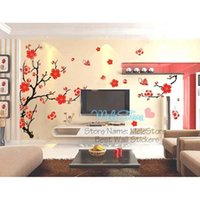 Ome Decor Wall Stickers Diy Vinilos Paredes Flower Tree Wall Sticker Big Sofa Tv Background Home Decor Setting Adhesive Butterfly Love Pe ...