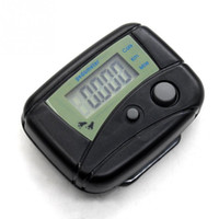 Wholesale Electronic Clipping - Wholesale- Black Multifunctional Electronic Digital LCD Run Step Run Pedometer Walking Calorie Counter Distance Clip-on