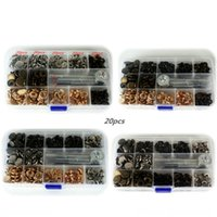 Wholesale Wholesale Clothing Snaps - wholesale price 100set Pack 831 Metal Press Studs Sewing Button Snap Fasteners Sewing Leather Craft Clothes Bags