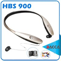 Wholesale Bluetooth Stereo Headset Microphone - Gold Tone Ultra CSR 4.0 HBS900 hbs 800 Wireless Bluetooth Neckband Stereo Headset for iphone6 with retail for iphone8 8plus carving Cover