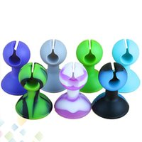 Wholesale Silicone Stands For Ego - E Cig Silicone Bracket Dispaly EGO Battery Silicon Base Sucker Holder for EGO T EGO C EVOD Twist Batteries Holders Stands DHL Free