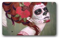 Wholesale Mats Sugar Skull Girl creative entry mat size quot L x quot W inches Patterns can be customized