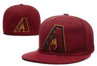 Wholesale Diamondbacks Cap - Diamondbacks Casual Fitted Caps Baseball Cap Embroidered Team Size Flat Brim Hat Size Cap Chapeu Masculino Bone De Beisebol
