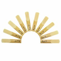 Wholesale reed clarinet - Wholesale-SLADE 10 Pcs Lade bB Clarinet Bamboo Reeds Strength 2.5 Accessories