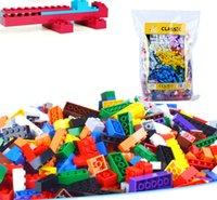 Wholesale Construction Blocks - 1000pcs lot DIY Bulk Building Blocks 14 Types 10 Colors Building Bricks Construction Brick Building Blocks Toys for Kids