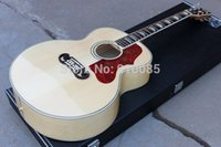 Wholesale Acoustic Jumbo - Wholesale- New Arrival, China Manufacture Chibson J200 Nature, Acoustic Guitar Maple Body Spruce Top J200 Jumbo Style Acoustic.