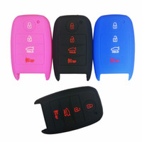 Wholesale kia smart key remote - 4 Buttons Silicone Car Smart Key Fob Remote Cover Case Keyless Entry Holder For 2016 KIA K3 Forte Sorento Optima Rio 4buttons