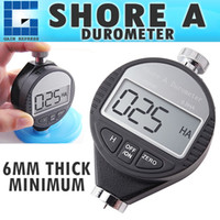 Wholesale Digital Shore Durometer Tester - 560-10A Portable Handheld Shore A Digital LCD Display Hardness Meter Tester Durometer 0~100HA Dial Scale Rubber Tire Zero Setting