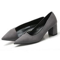 Wholesale Cheap Grey Dress For Women - Sexy Cheap Heels Online Fashion Dress Pumps Outlet Shoe For Ladies Designer Women's Footwear Pointed Girls Name Brand Shoes Online Shopping
