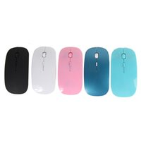 Wholesale Fashion Computer Mouse - Ultra Thin 2.4G Wireless Optical Mouse Fashion Ultra-thin Computer Mouse with USB Receiver for Laptop Notebook PC Desktop New