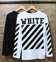 Wholesale Cotton Spandex Shirt Long Sleeve - Mens Long Sleeve T shirt OFF WHITE Outdoor Casual Oversize Tee shirt O neck Cotton Palace Tees S-XL