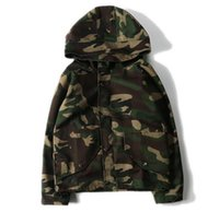 Wholesale Men S Belted Trench Coat - HOT 2016 Newest winter Men's Hoodies COOL Camouflage in the style is contracted fashion coat long hooded double trench coat M-XXL