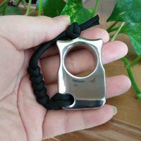 anéis de 16mm venda por atacado-O anel de aço inoxidável do espanador da junta do dedo de EDC o único / peso de papel CNC fez à máquina o 16mm grossos