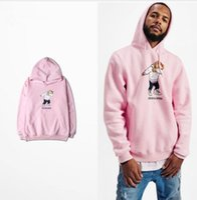 Wholesale Pink Color Bear - Supremitied Cartoon Funny Bear Pink Vetements Hoodie Oversized Kanye Hip Hop Men Sudaderas Hombre Sweatshirt Women Hoodies