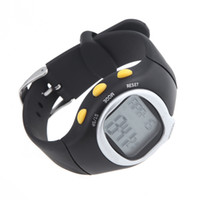 ingrosso contatore calorico monitor di frequenza impulsi-Spedizione gratuita Square Uomo Donna Orologi Dial Calorie Contatore Impulso, Monitor di frequenza cardiaca Sport Esercizio Orologio da polso nero H10512