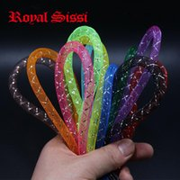 Wholesale Wholesale Fly Tying Materials - Wholesale- New 12colors assorted Royal Sissi Dura Flashing Tubing  diameter 8mm tube minnow mylar pike saltwater Fly fishing tying material