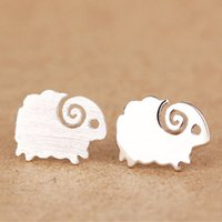 Wholesale Romance Jewelry - 100% 925 silver ear rings Love romance Infinity sheep earring Women Party gift lover's infinite Valentine's Day jewelry